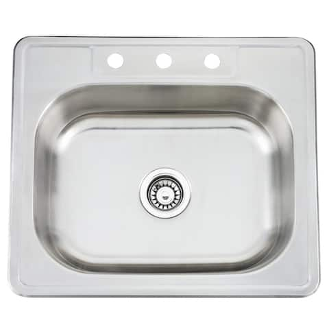 Fine Fixtures Topmount Stainless Steel Single Bowl Sink