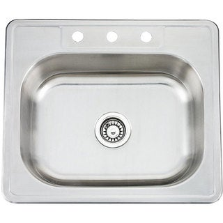 Fine Fixtures Topmount Stainless Steel Single Bowl Sink