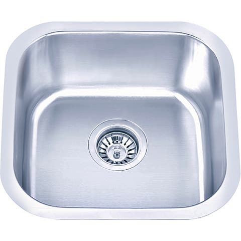 Fine Fixtures Undermount Stainless Steel Single-bowl Sink