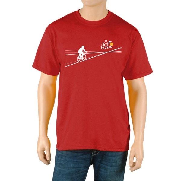 Le Tour de France Men's 'Poster' Red Official T-Shirt