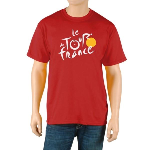 Le Tour de France Men's Red Cotton Official T-Shirt