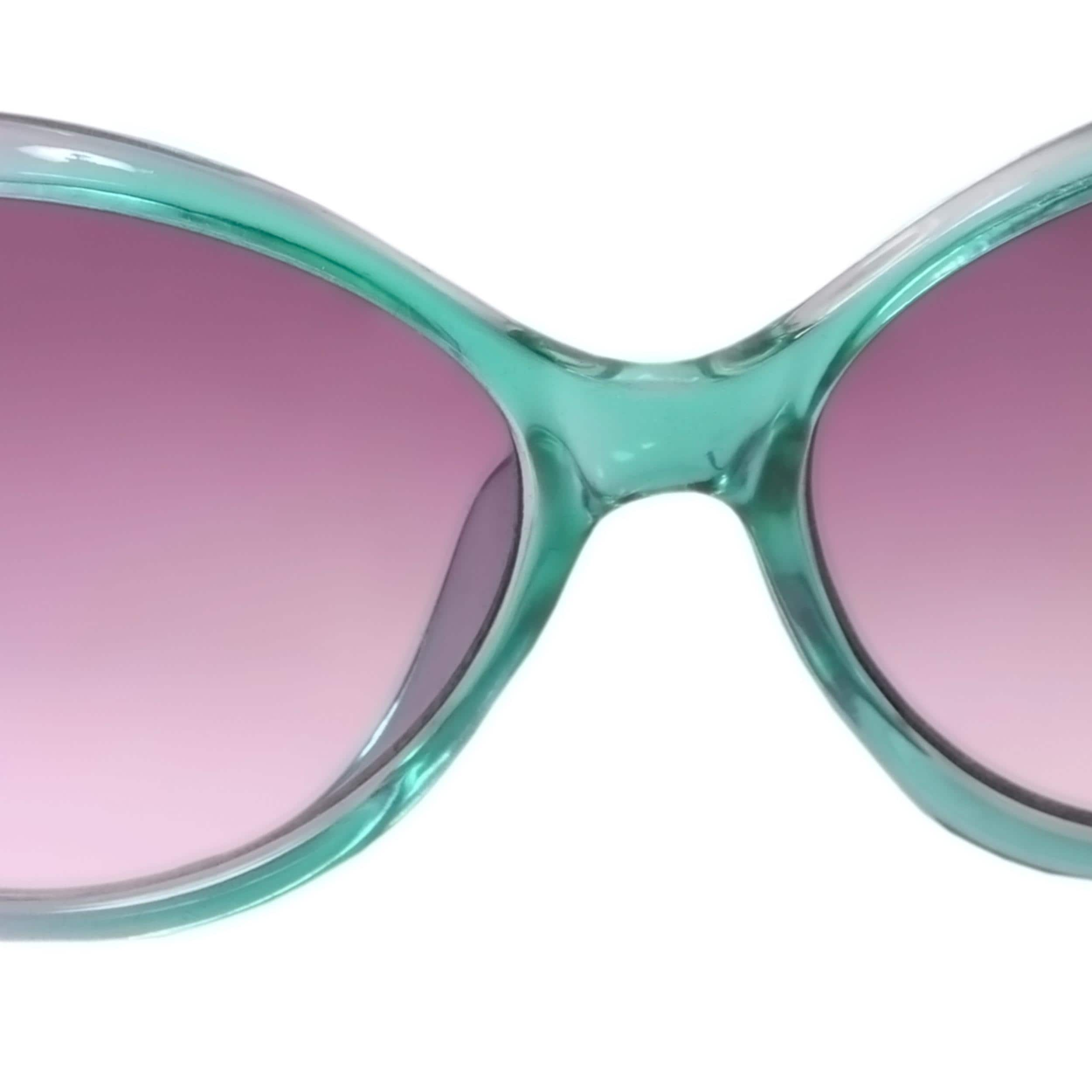 Adi Designs Women's Oversize Heart Detail Fashion Sunglasses - Thumbnail 2