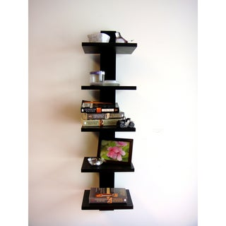Spine Wall Black Book Shelves