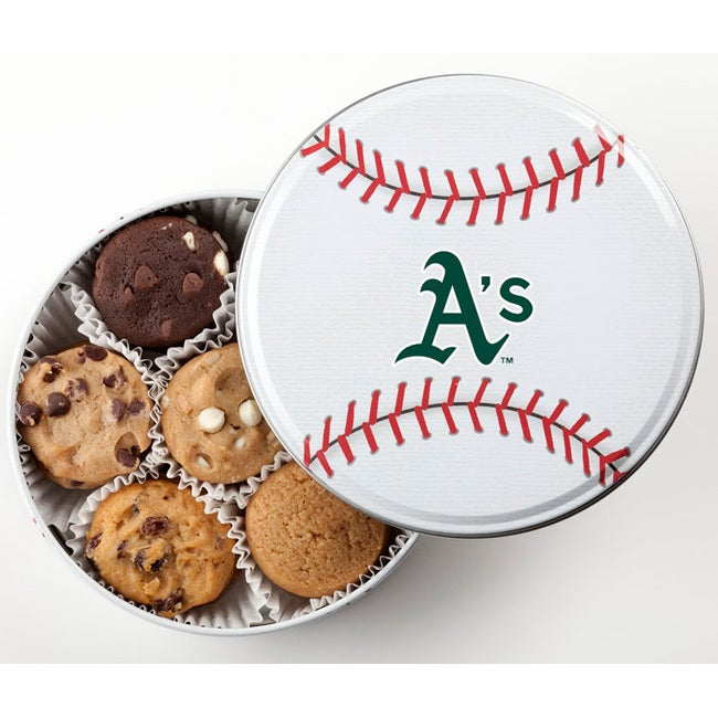 Mrs. Fields Oakland A's 18 Nibbler Cookies Tin