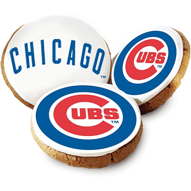 Mrs. Fields Chicago Cubs Logo Butter Cookies (Pack of 12)