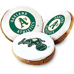 Mrs. Fields Oakland A's Logo Butter Cookies (Pack of 12)