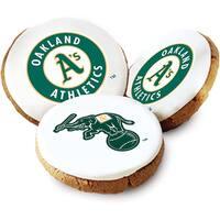 Mrs. Fields Oakland A's Logo Butter Cookies (Pack of 12)