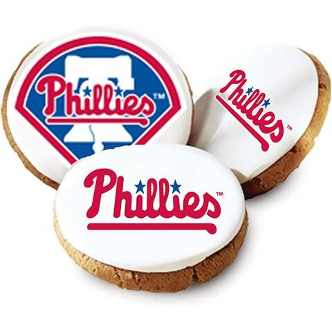 Mrs. Fields Philadelphia Phillies Logo Butter Cookies (Pack of 12)