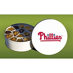 Mrs. Fields Philadephia Phillies 96 Nibbler Cookies Tin