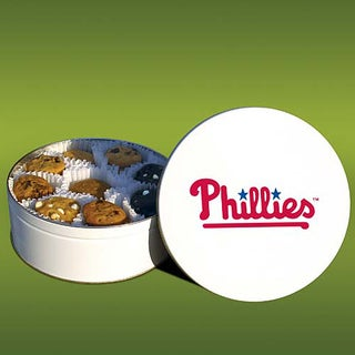 Mrs. Fields Philadelphia Phillies 48 Nibbler Cookies Tin