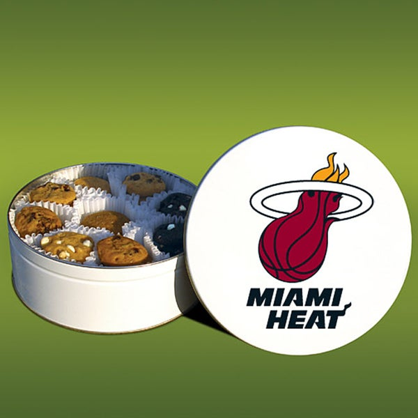 Mrs. Fields Miami Heat 48 Nibbler Cookies Tin