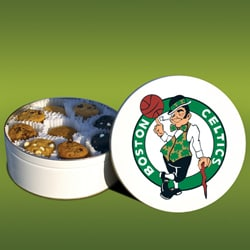 Mrs. Fields Boston Celtics 96 Nibbler Cookies Tin