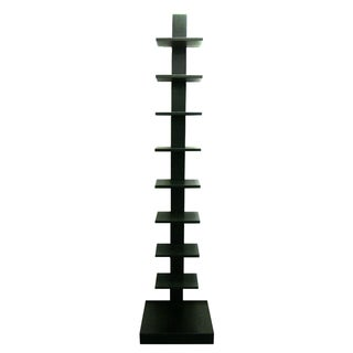 Spine Standing Black Book Shelves