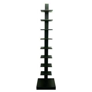 Spine Standing Black Book Shelves