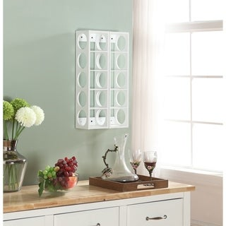 White Rutherford Wine Racks (Set of 2)