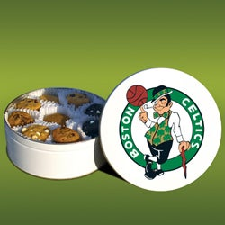 Mrs. Fields Boston Celtics 48 Nibbler Cookies Tin