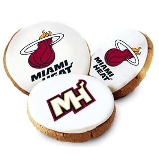 Mrs. Fields Miami Heat Logo Butter Cookies (Pack of 12)