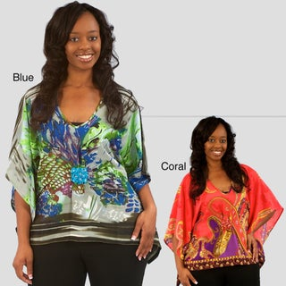 Madison Paige Women's Colorful Caftan Top