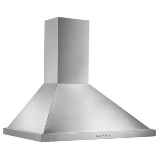 Broan 36-inch Stainless Steel Traditional European Chimney Wall Hood - Silver