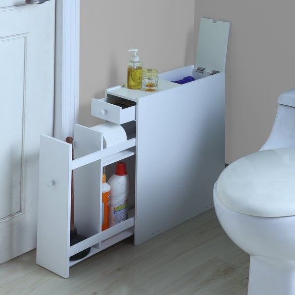 White Wood Bathroom Floor Cabinet - Free Shipping Today ...