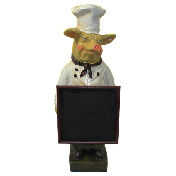 French Chef Pig Menu Chalk Board Free Shipping Today Overstock Com 13704761