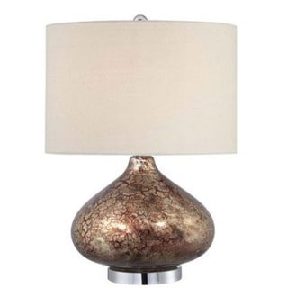 Ruby Lode Contemporary 1-light Red and Gold Glass Table Lamp