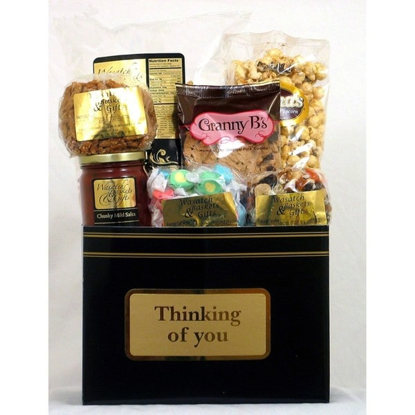 Gift Techs Mountain Wishes, Thinking of You Gourmet Snack Food Gift Box