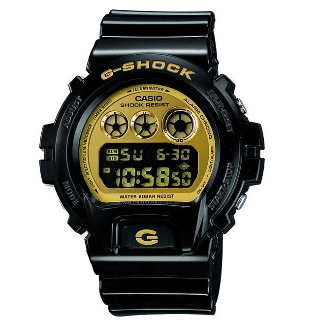 Casio Men's 'G-Shock' Mirror Dial Black and Gold Watch (B...