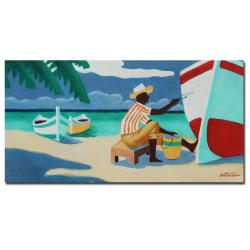 Antonio 'Antigua' Gallery-wrapped Canvas Art
