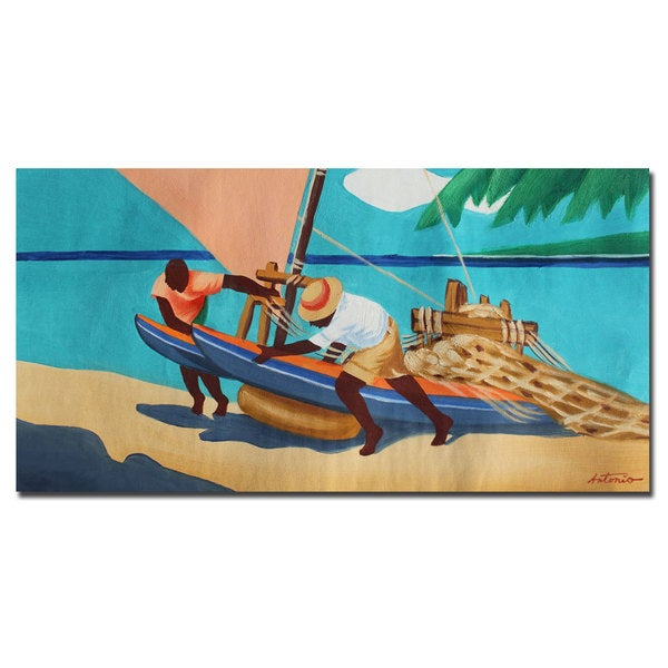 Antonio 'Summer Times' Gallery-wrapped Canvas Art