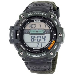 Casio Men's 'Twin Sensor' Military Green Digital Sport Watch