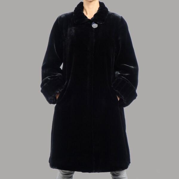 Women's Beaver Faux Fur Short Coat