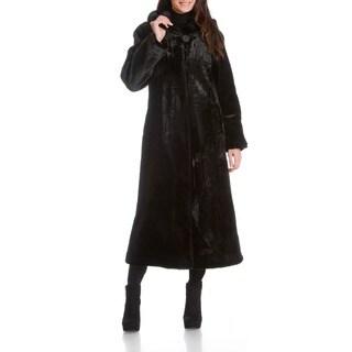 Women's Beaver Faux Fur Coat