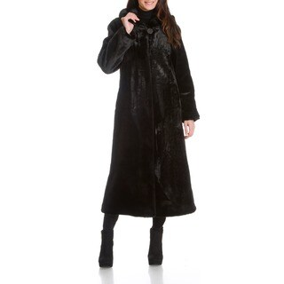 Women's Beaver Faux Fur Coat