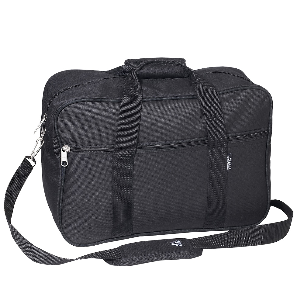 Everest 16-inch Black Carry-on Soft Briefcase with Shoulder Strap