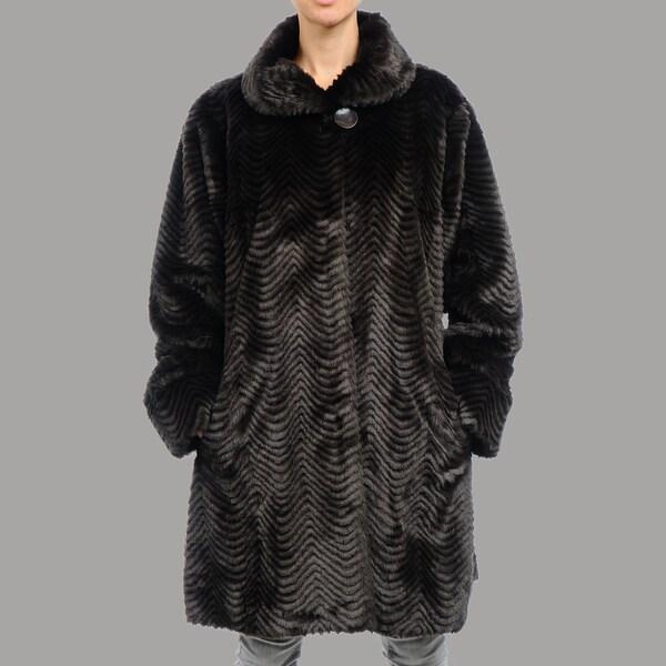 Women's Plus Size Roma Faux Fur Short Coat