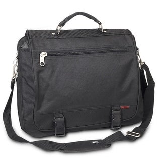 Link to Everest 16.5-inch Expandable Soft Leather Handle Briefcase Similar Items in Briefcases