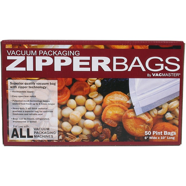VacMaster Pint 6 x 10 Zipper Bags