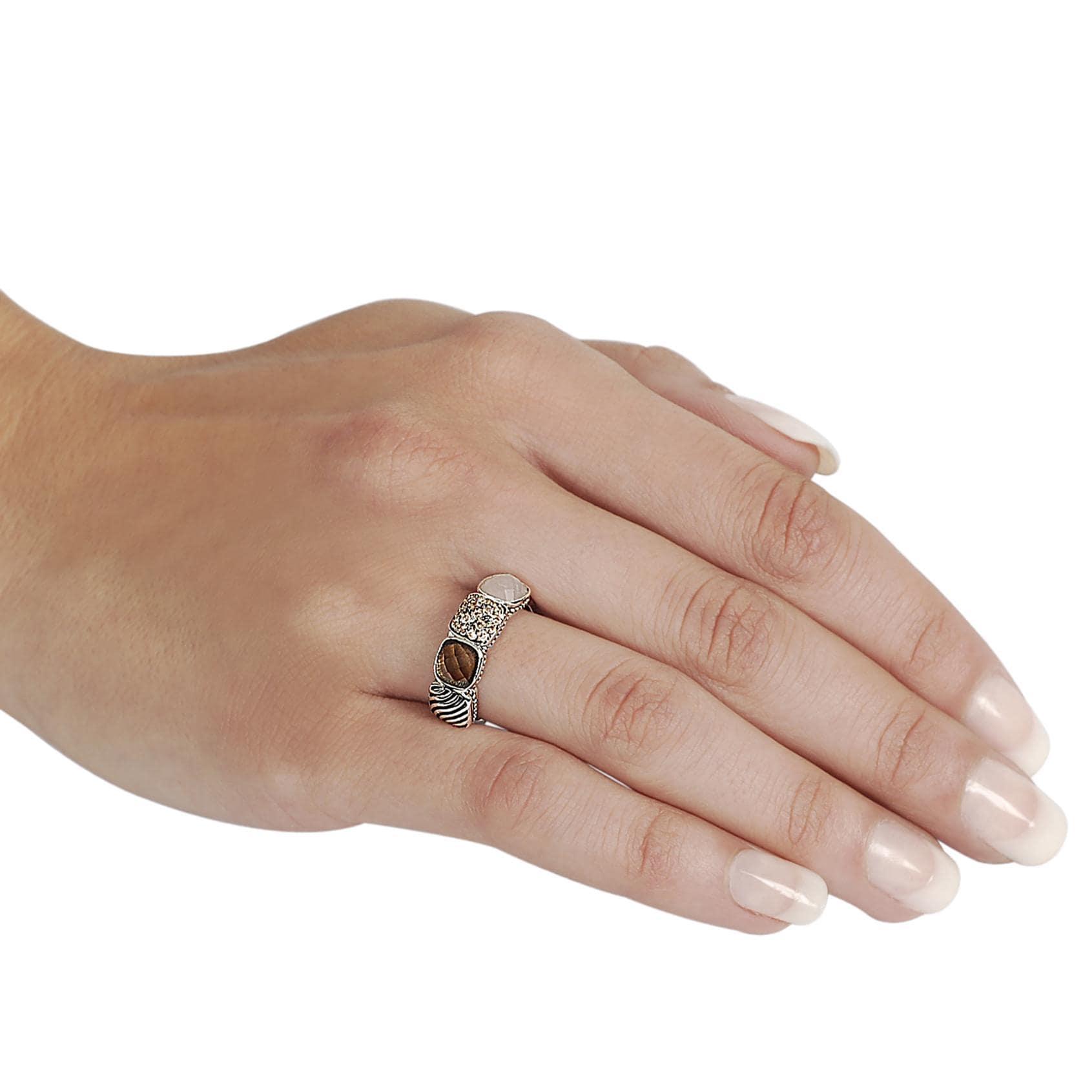 Journee Collection Silvertone Pave-set Cushion-cut CZ Ring - Thumbnail 2