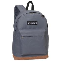 Everest 17-inch Vintage Two-tone Suede Bottom Lightweight Backpack
