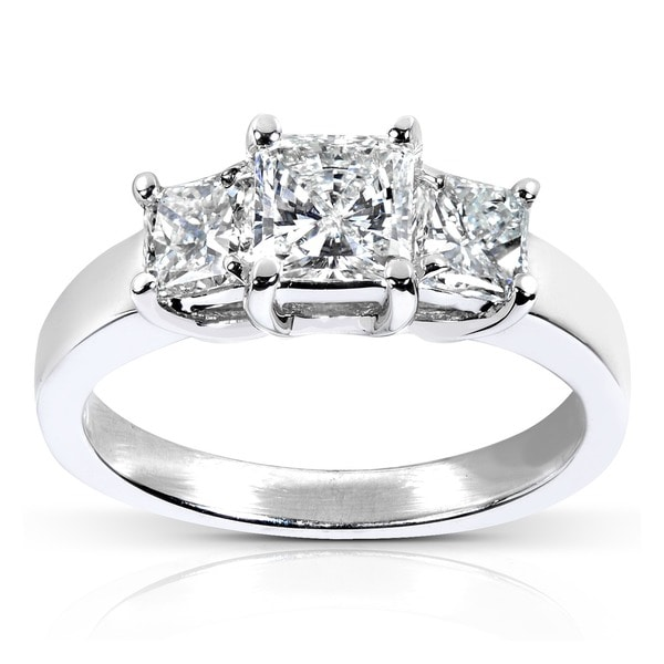 Annello by Kobelli 14k White Gold 1 5/8ct TDW Certified Diamond Engagement Ring (H-I, SI2