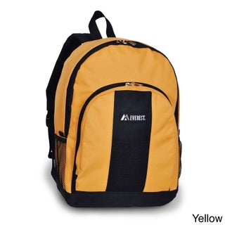 Everest 17-inch Two-tone 600 Denier Polyester Fabric Backpack (Option: Yellow/Black)