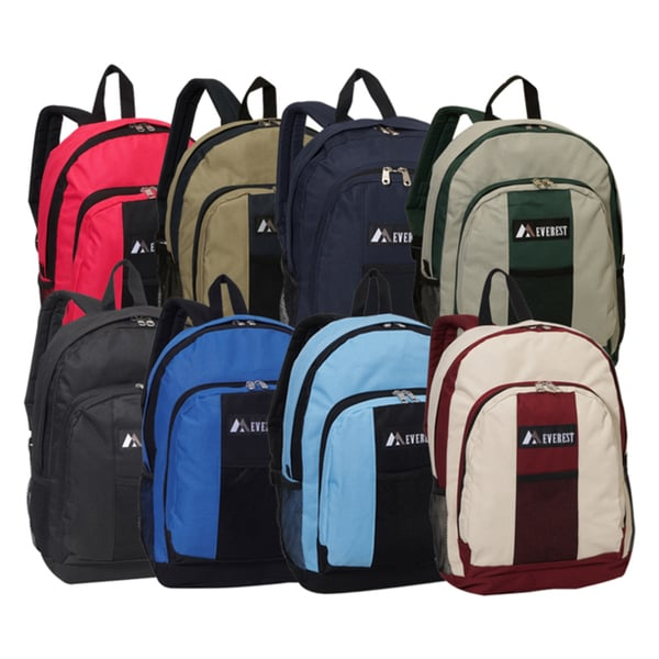 1a04163d0 Shop Everest 17-inch Two-tone 600 Denier Polyester Fabric Backpack ...