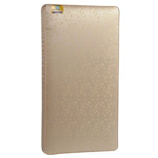 Sealy Posturepedic Crown Jewel Luxury Firm 220-Coil Crib Mattress with Waterproof Cover - Gold