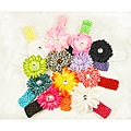 Three-in-one Large Flower Hair Clips (Pack of 12)