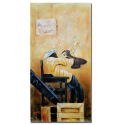 Antonio 'Urban Jazz' Gallery-wrapped Canvas Art