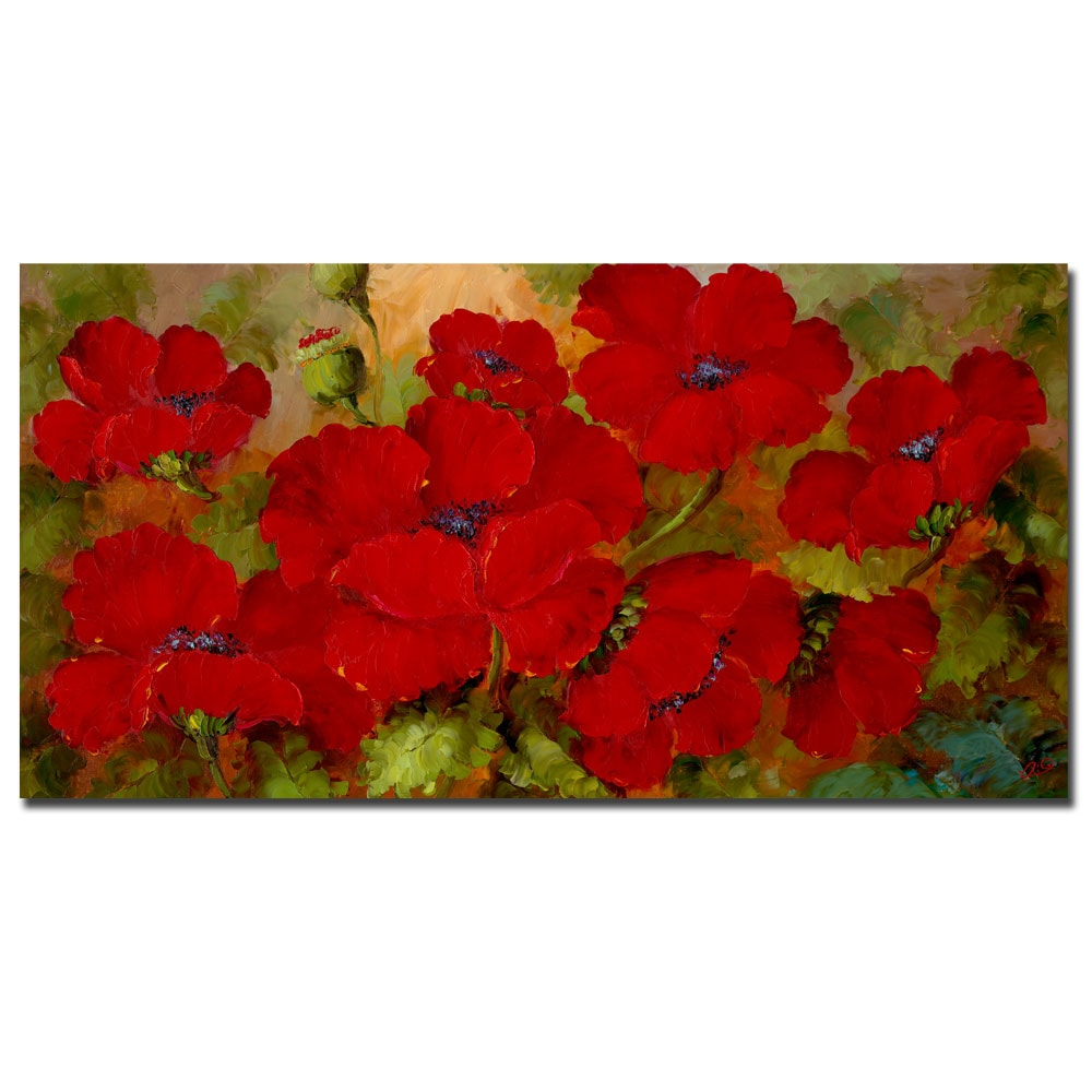 Rio 'Poppies' Gallery-wrapped Canvas Art