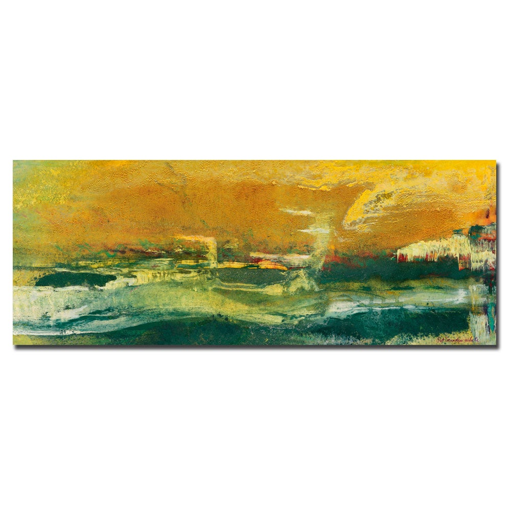 Pat Saunders-White 'Green Edge' Gallery-wrapped Canvas Art - Thumbnail 0