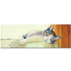 Pat Saudners-White 'Sunbather' Gallery-wrapped Canvas Art