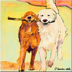 Pat Saunders-White 'Stick with Me' Gallery-wrapped Canvas Art